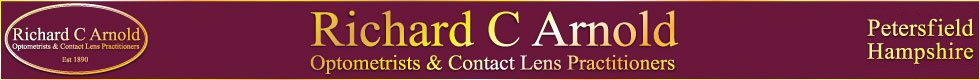 RC Arnolds optometrists and contact lens providers of Petersfield, Hampshire